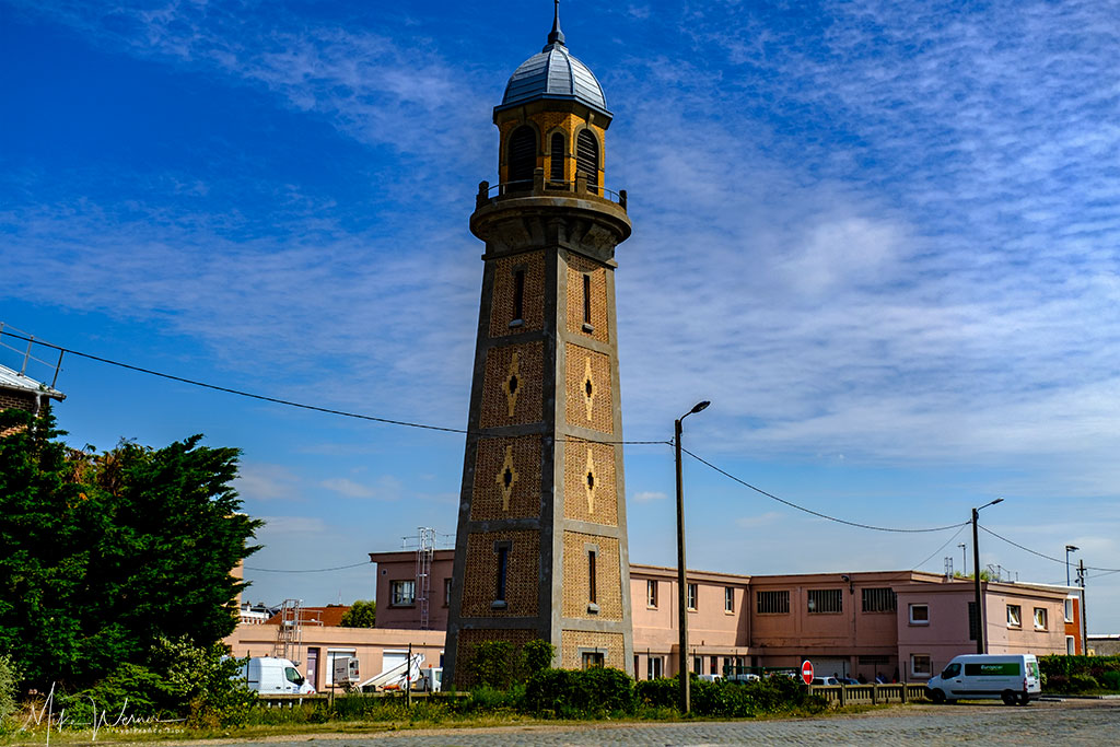 Old lighthouse tower in Le Havre