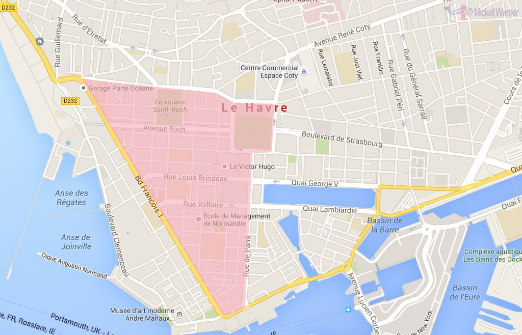The reconstructed triangle of Le Havre