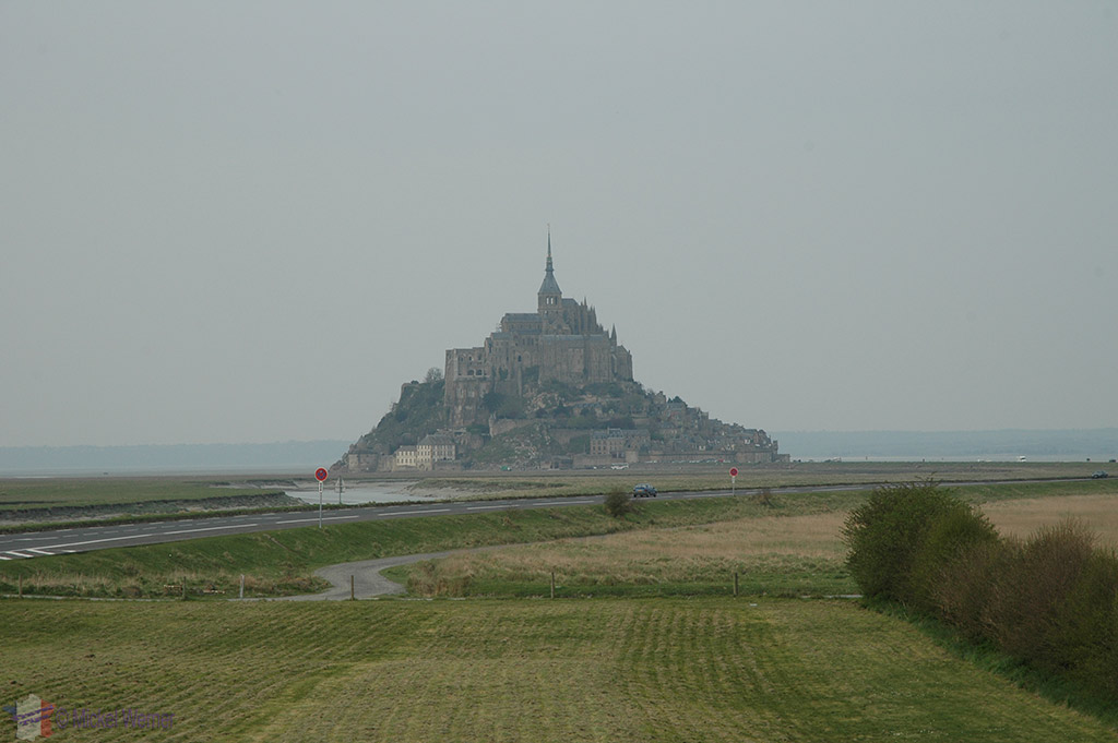 Mont St-Michel seen from land