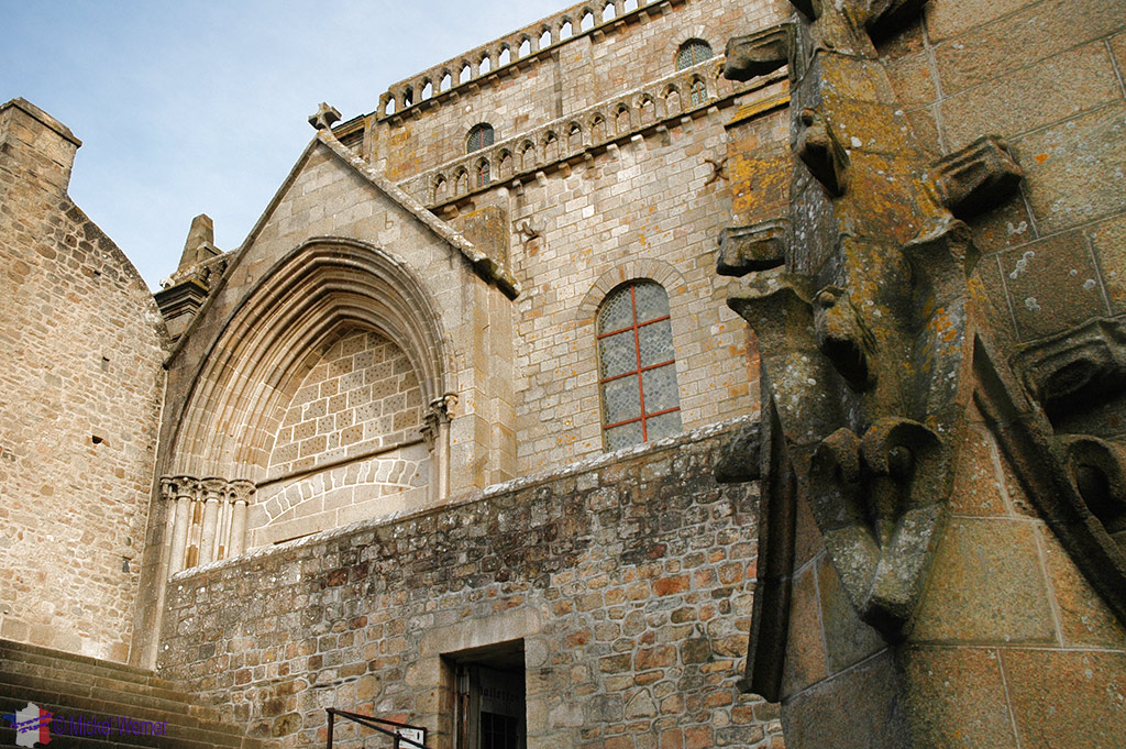 Mont St. Michel monastery chapel