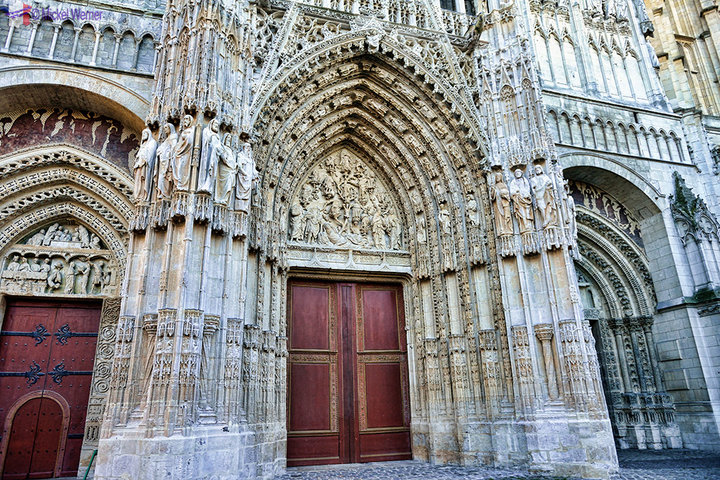 Doors of the Notre Dame cathedral of Rouen