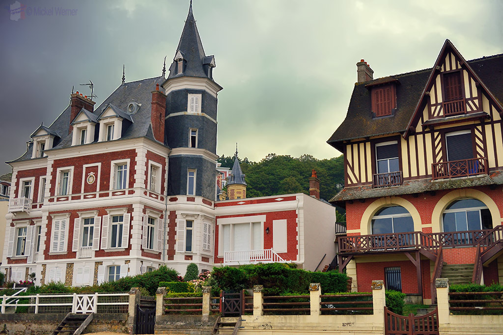 Mansions at the beach of Trouville-sur-Mer