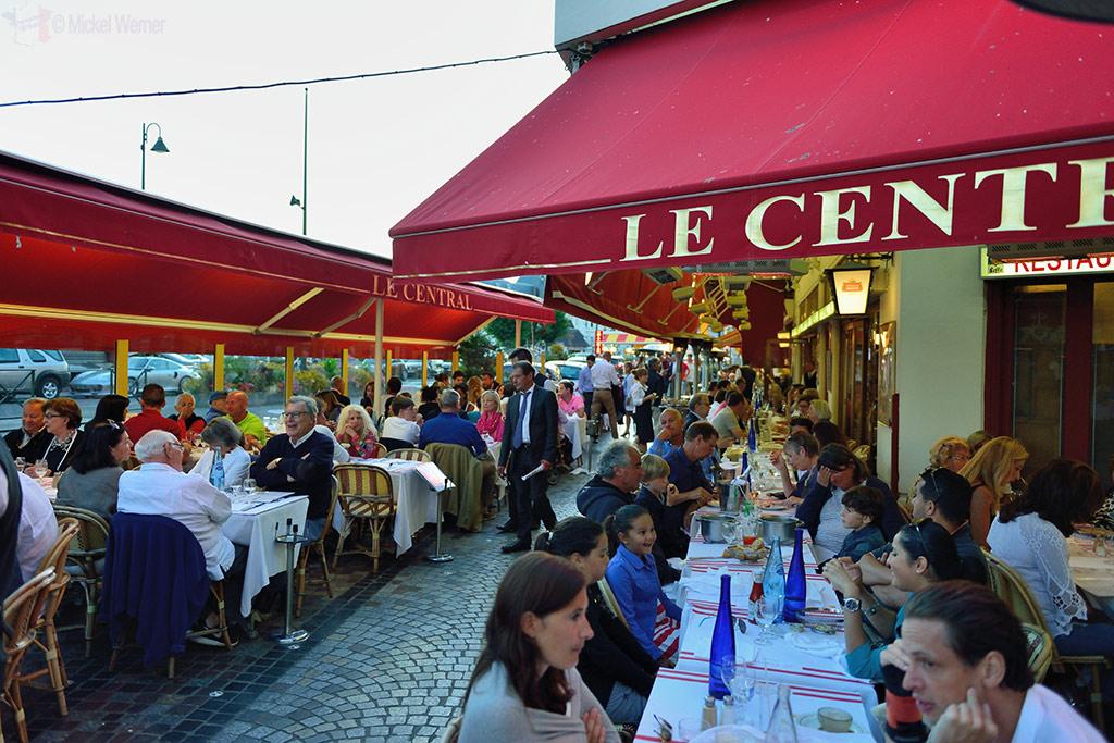 Main strip with restaurants at Trouville-sur-Mer