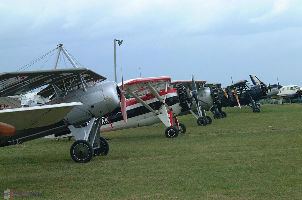 La Ferte Alais aeronautical show, the airplanes
