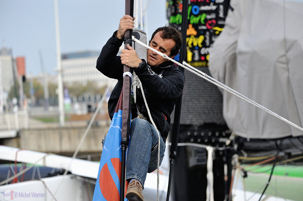Working on the yachts of the Transat Jacques Vabre at the Le Havre docks