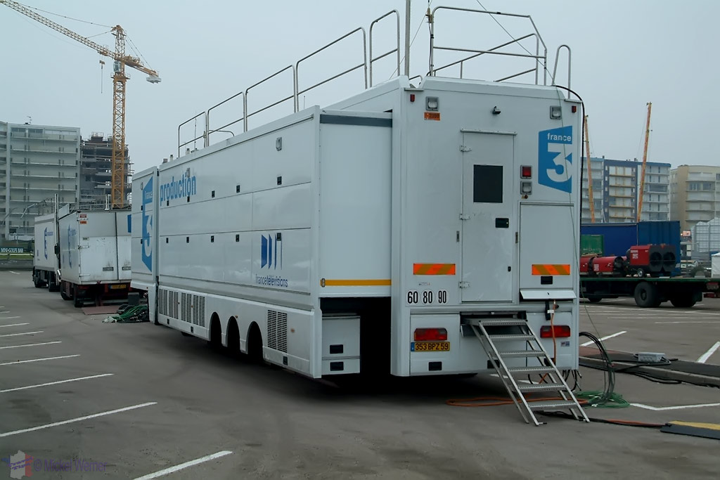 TV trucks at Le Touquet Enduropale