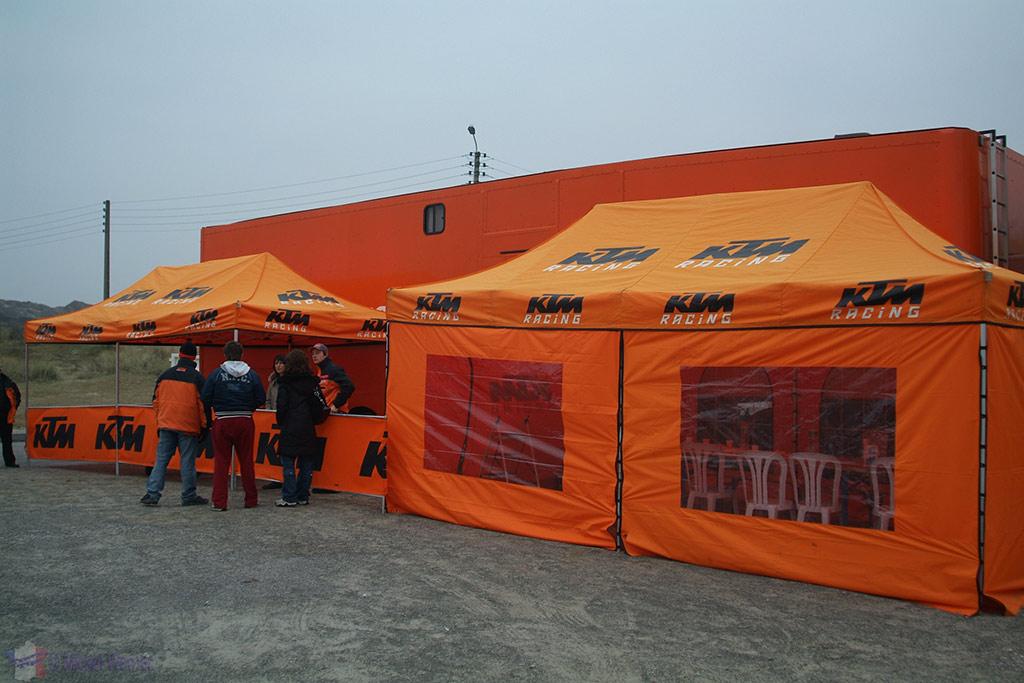 KTM VIP tents at Le Touquet Enduropale