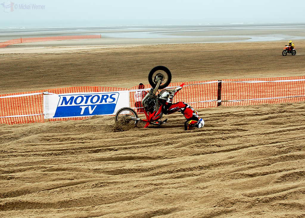 Crashing at Le Touquet Enduropale