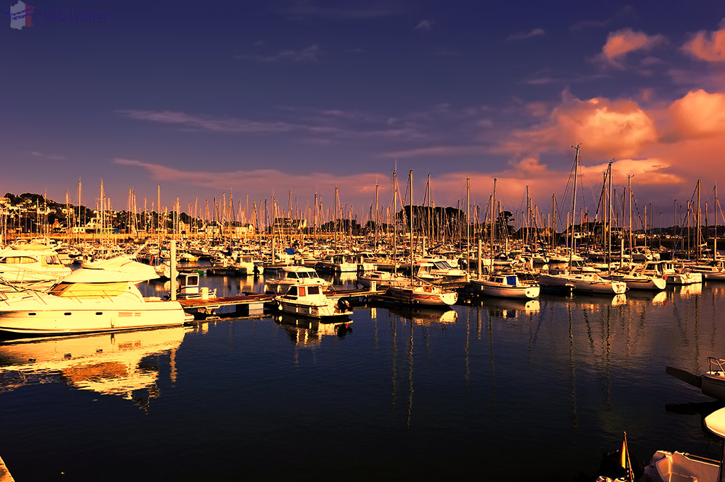 Pleasure boats marina of Perros-Guirec