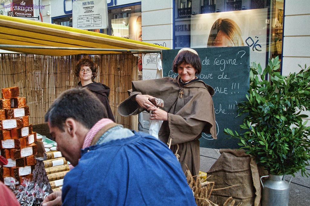 "Dressed up for the Rouen Annual ""Fete du Ventre"" Festival"