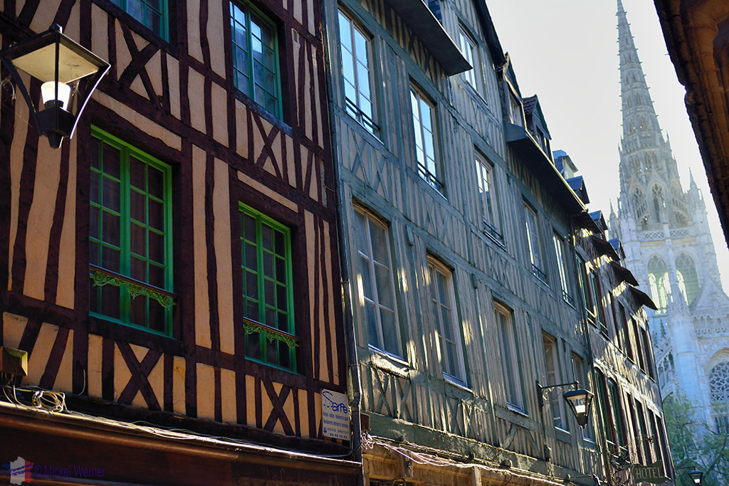Old house in Rouen city centree