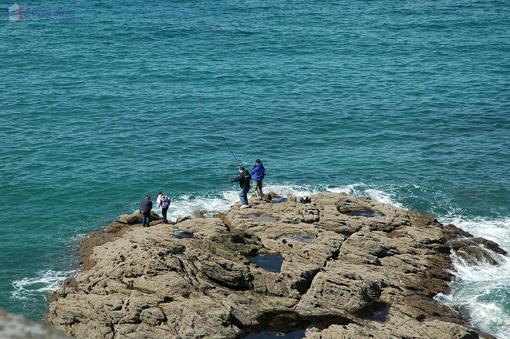 Fishing as seen from the fortified wall of St. Malo