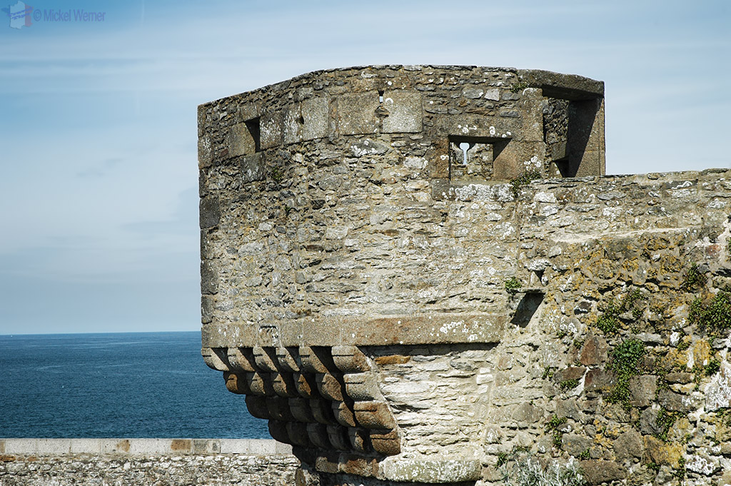 Part of the fortified wall of St. Malo