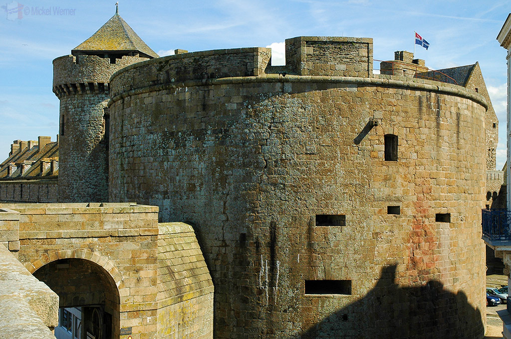 On the walls of the St. Malo fortress
