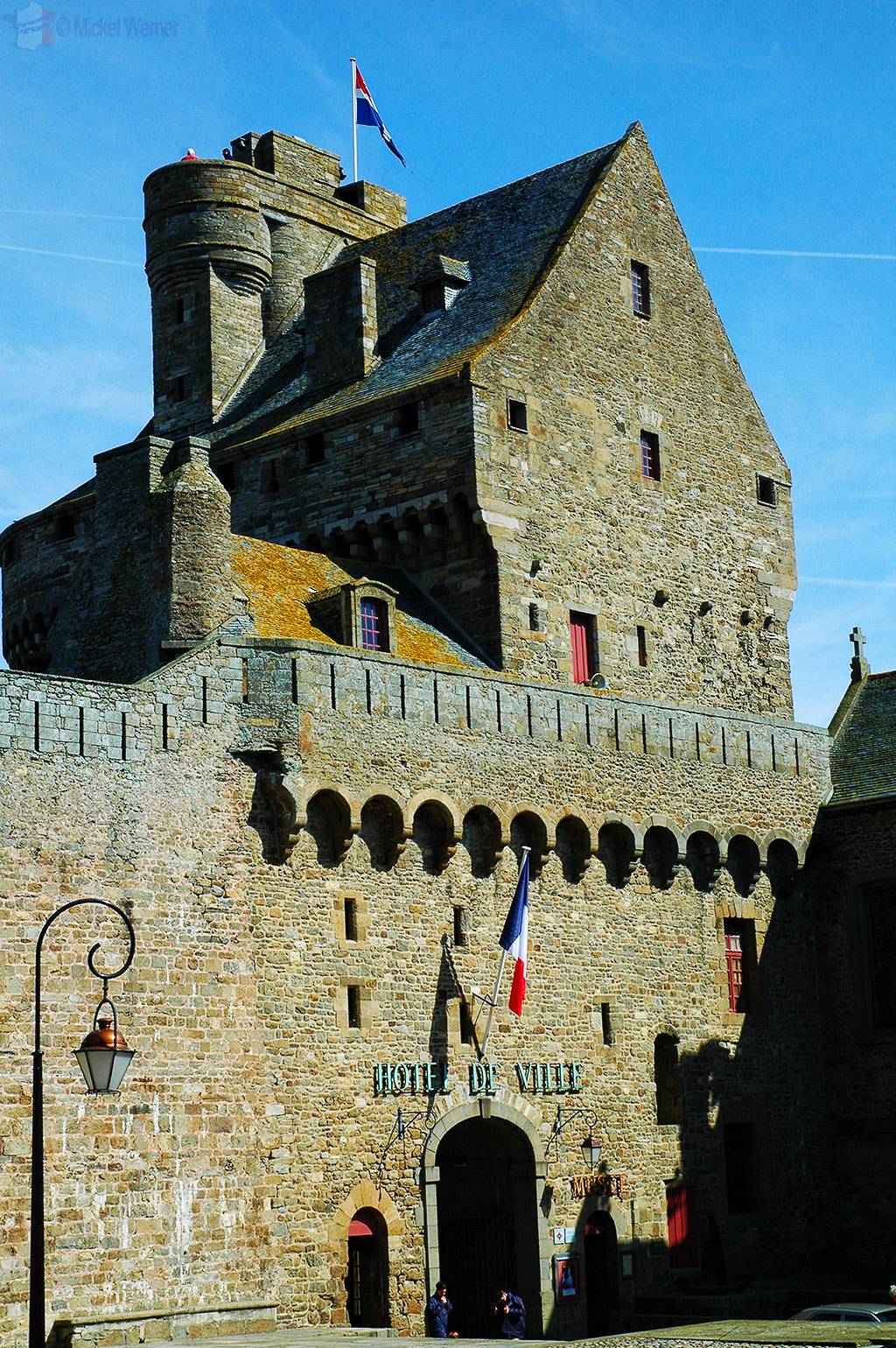 Part of City Hall in the fortress tower of St. Malo