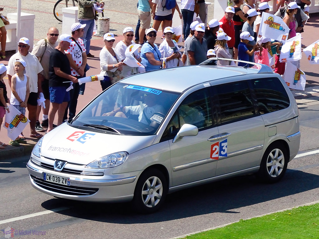 National French TV channel at the Tour de France