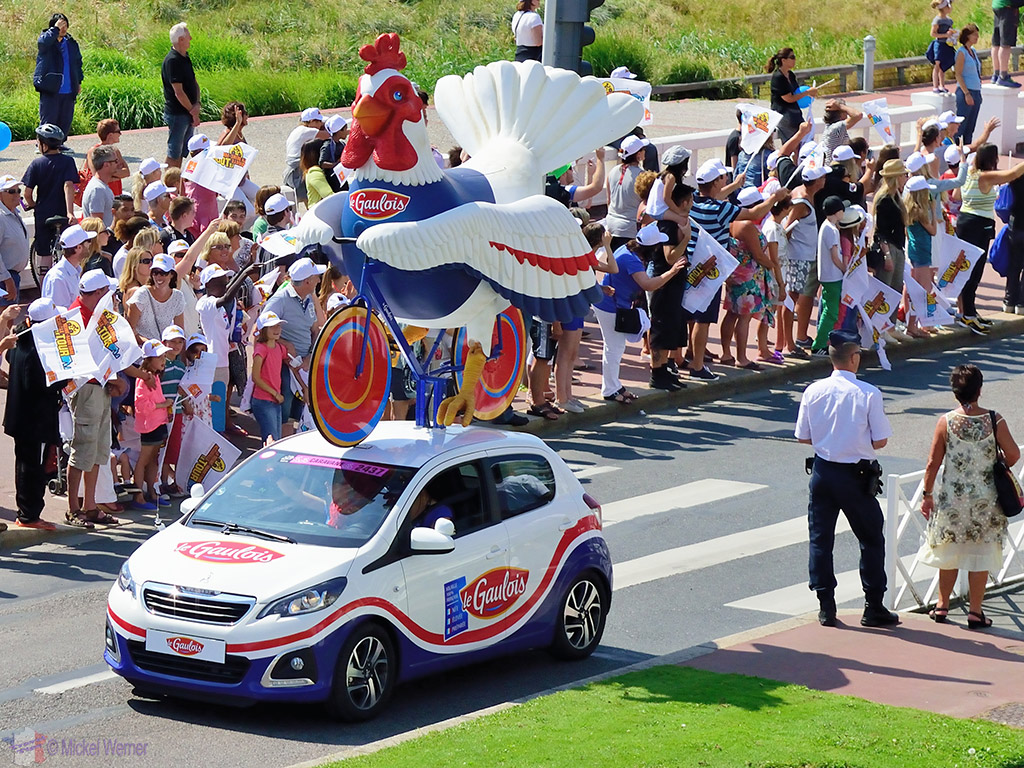 Publicity caravan at the Tour de France