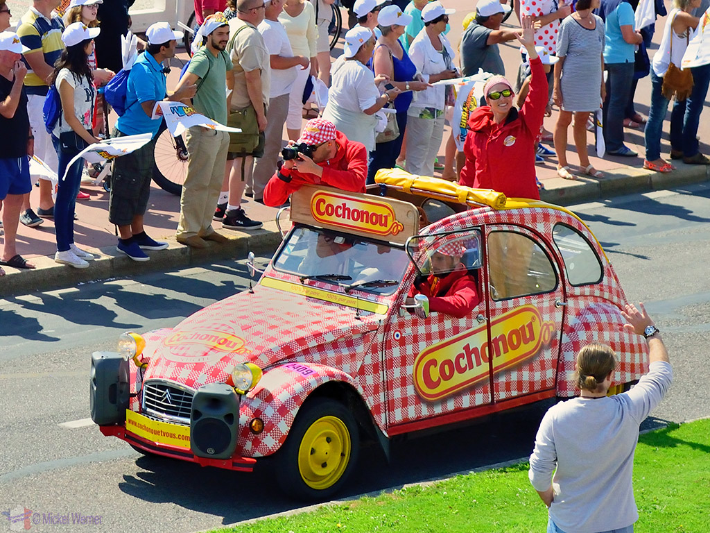 Publicity caravan at the Tour de France