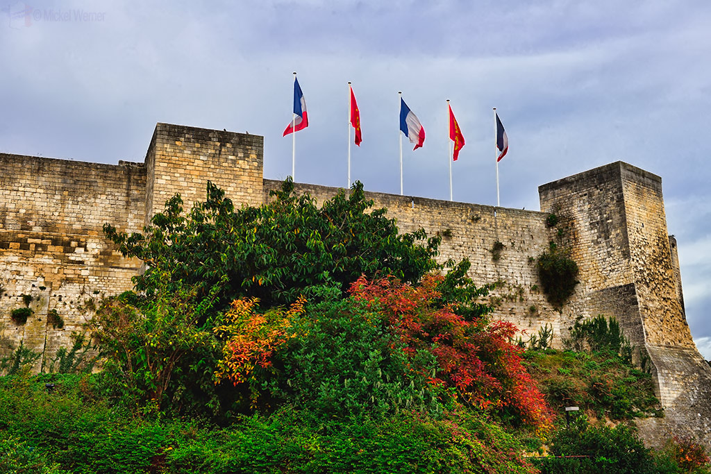 Fortified walls of the Caen Castle
