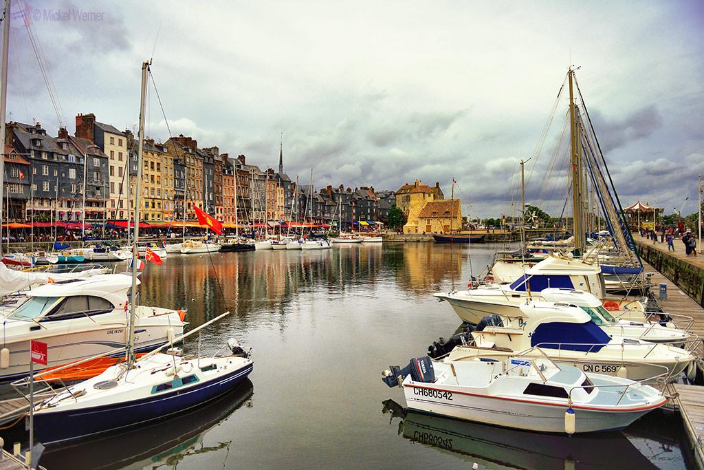 Pleasure boat harbour of Honfleur
