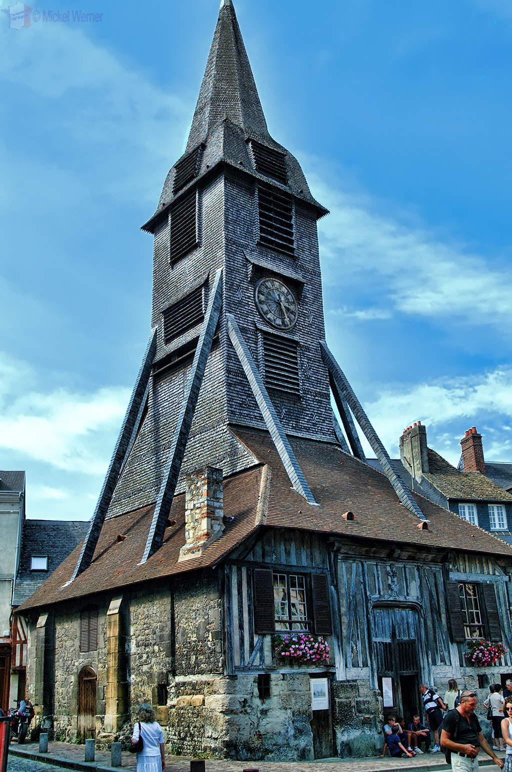 The bell tower of the Sainte-Catherine church of Honfleur