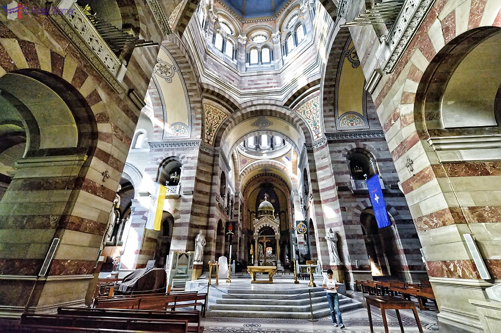 Inside the Sainte-Marie-Majeure Cathedral of Marseilles