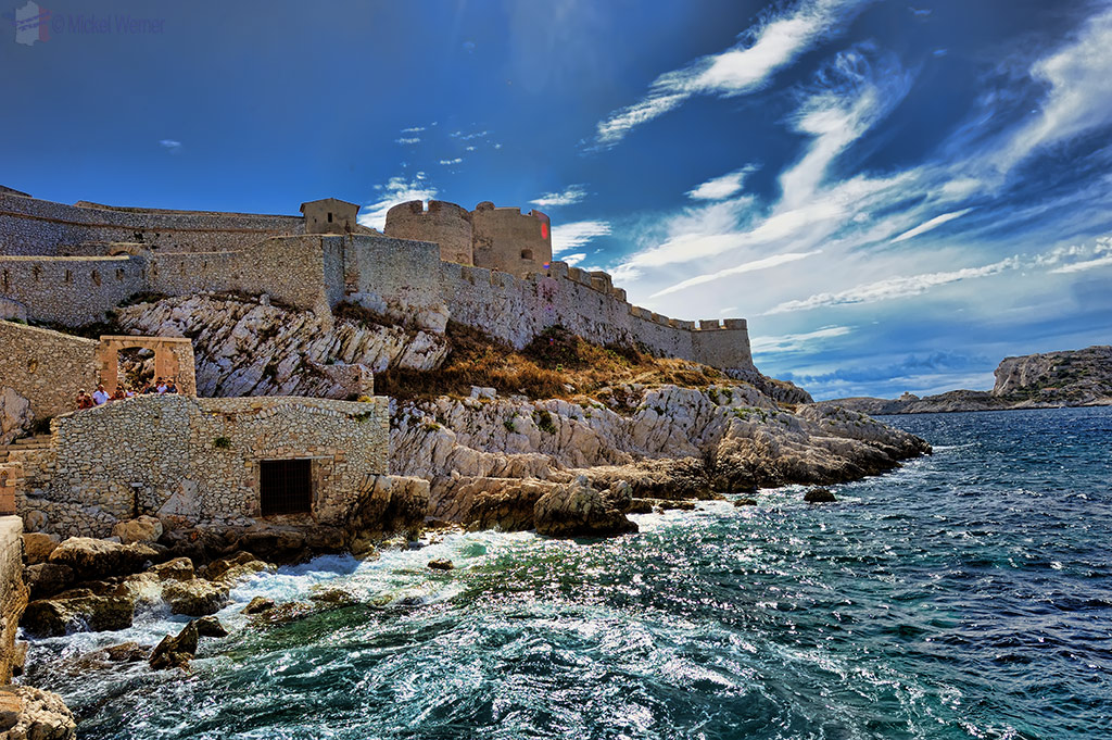 The fortress of Chateau d'If close to Marseilles