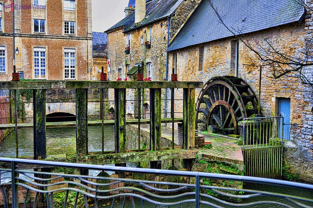 Watermill in Bayeux city centre along the Aure river