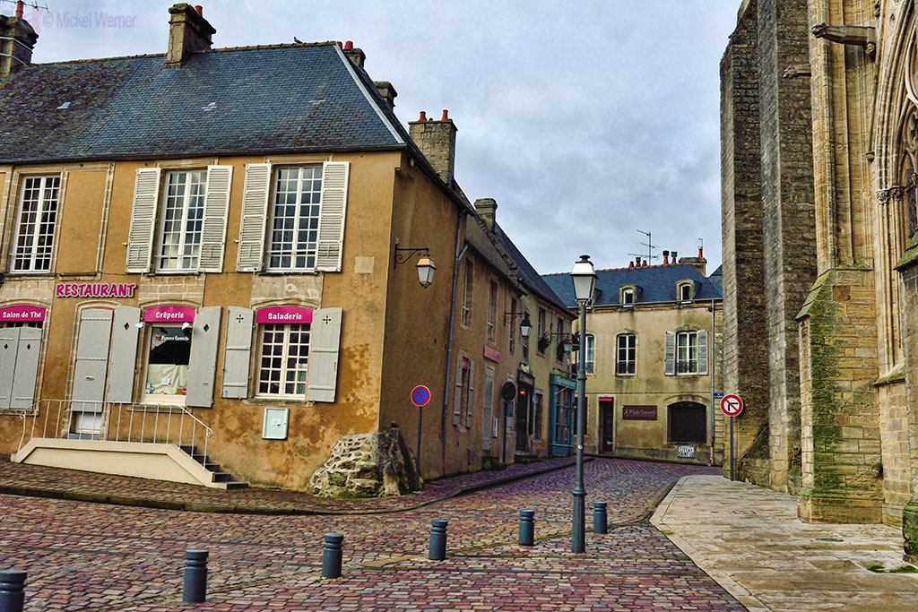 Cobblestone streets of Bayeux