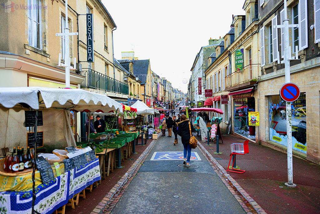 Shopping street in Bayeux