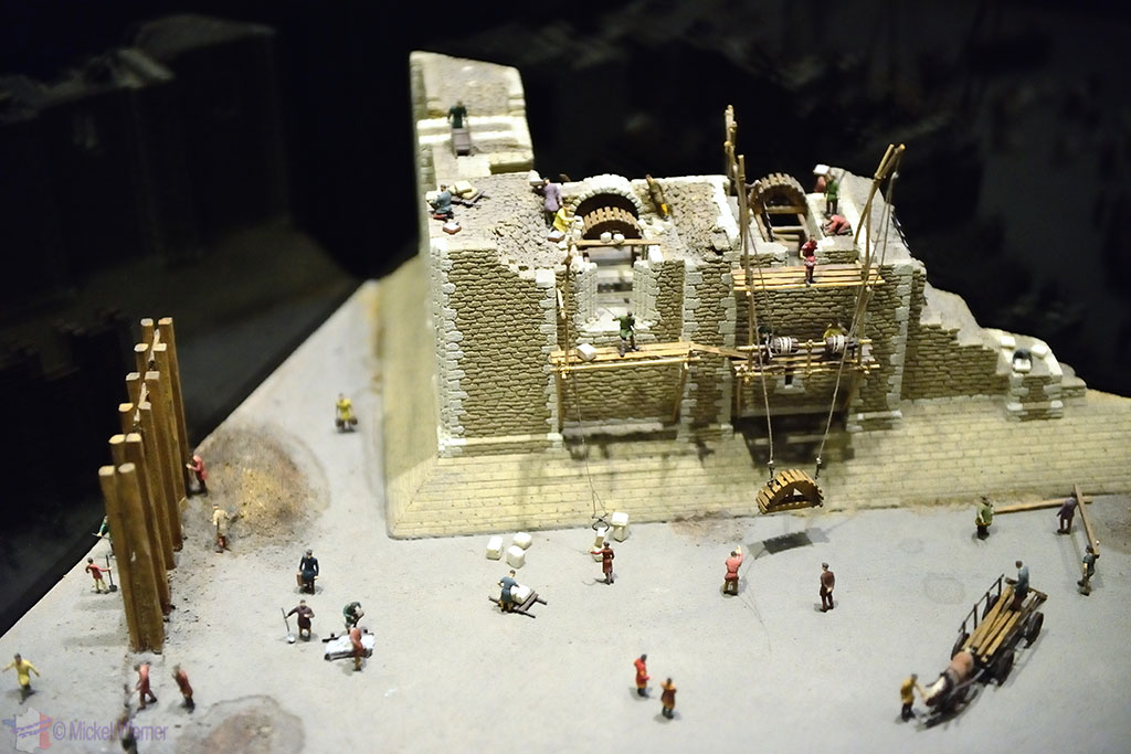 How castles were built in the Bayeux tapestry's museum exhibition
