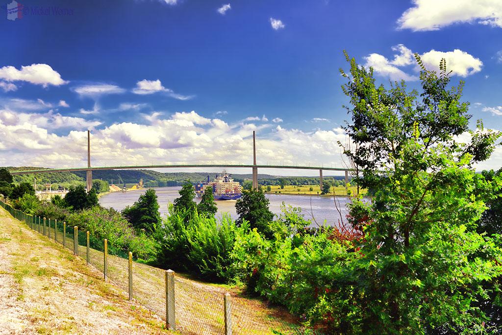 Pont de Bretonne on the Seine river next to Caudebec-en-Caux