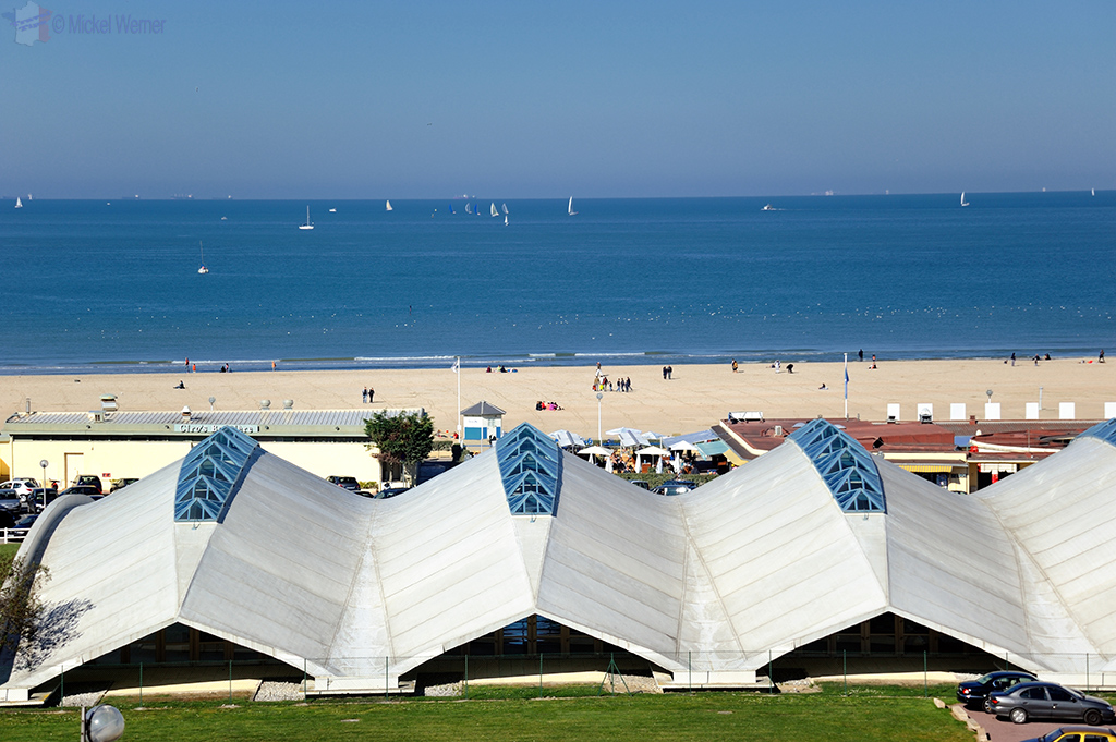 Deauville beach swimming pool