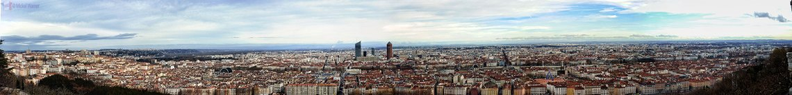 Panorama photo from Lyon