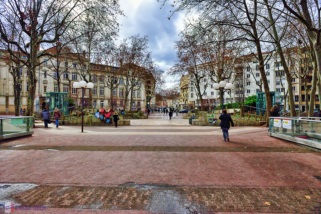 "The ""Place Guichard"" square of Lyon"