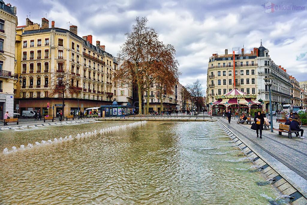 Place de la Republique square of Lyon