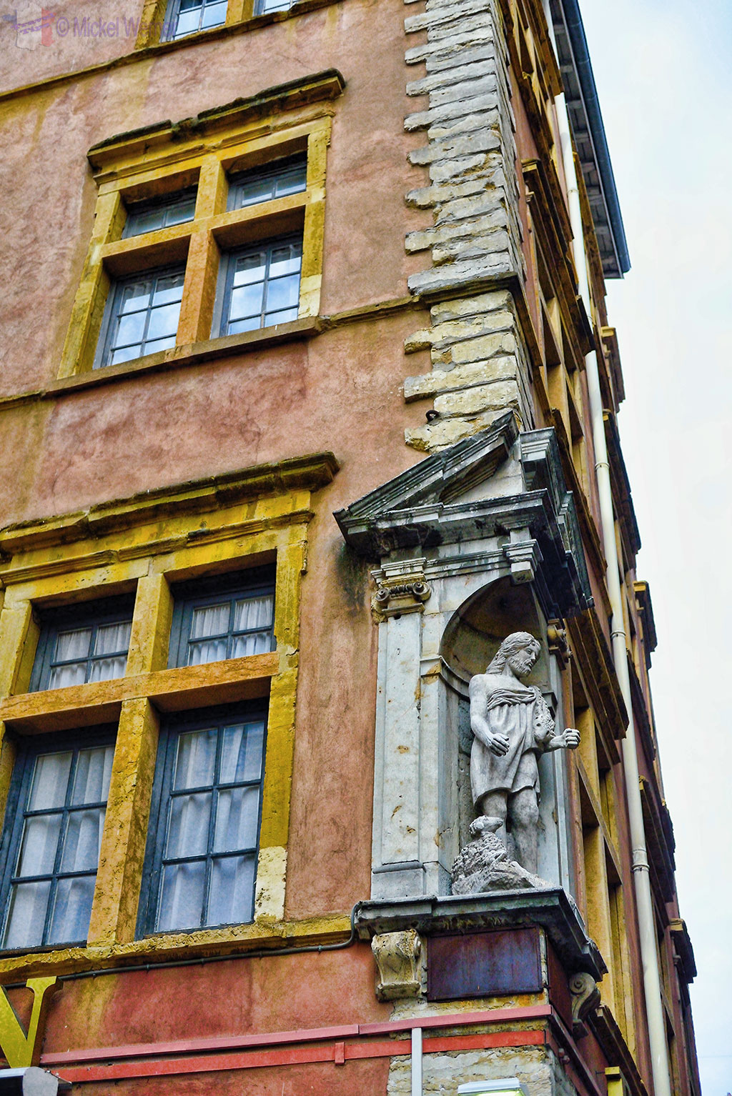 Facades of the old buildings in Vieux Lyon