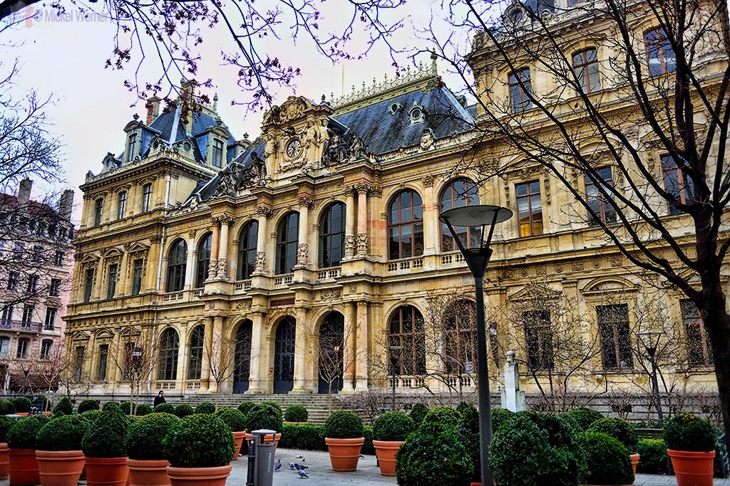 The former commercial exchange (Palais de la Bourse) of Lyon