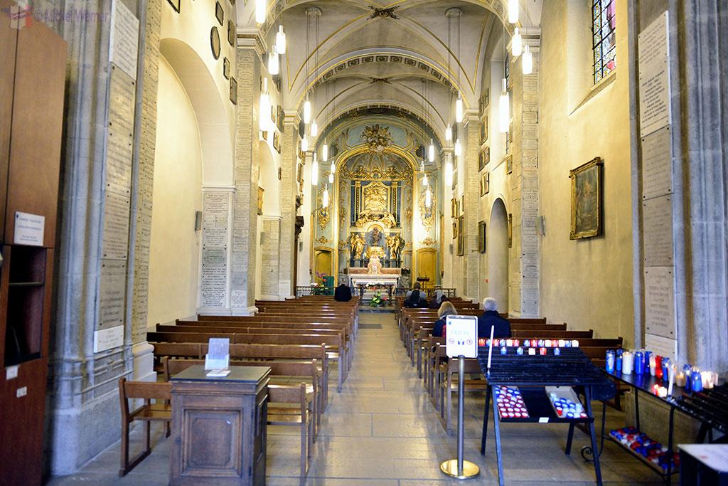 Inside the Chapelle de la Vierge (Chapel of the Virgin) of the Basilica of Lyon