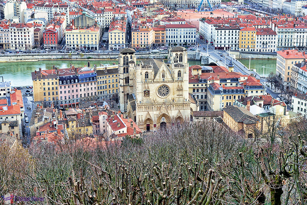 The view from the Basilica on the Cathedrale Saint-Jean-Baptiste de Lyon - Saint John the Baptist Cathedral of Lyon