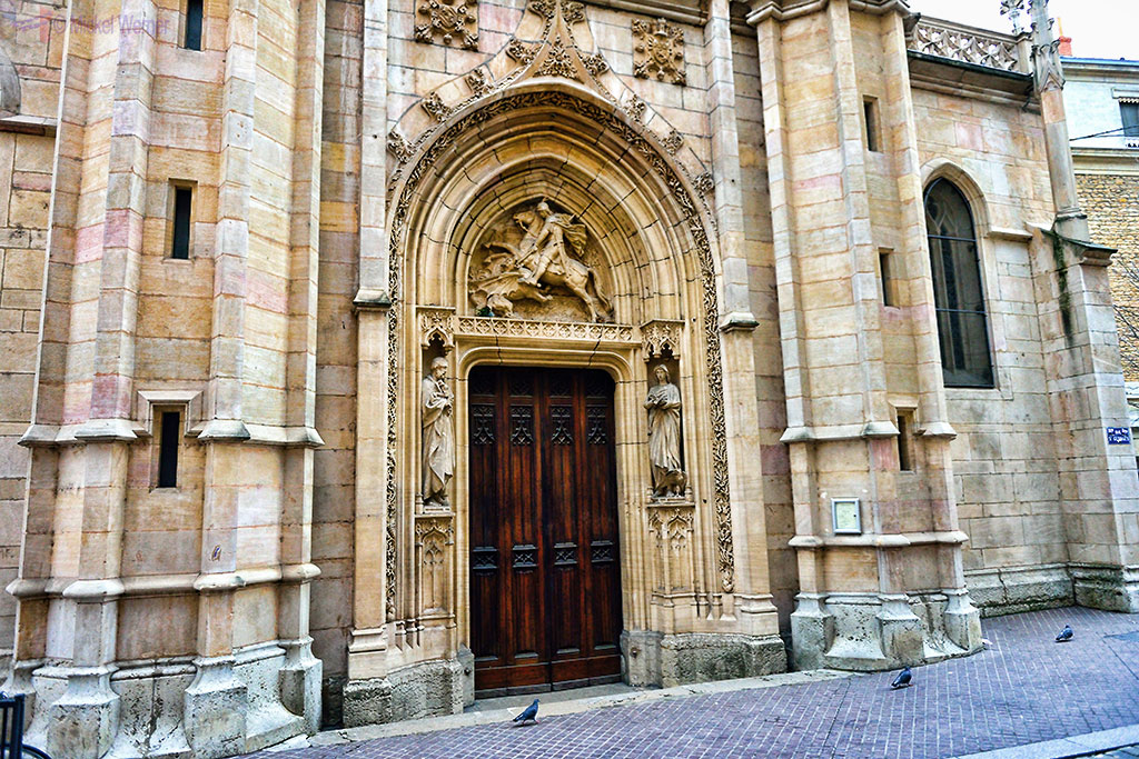Entrance to the Saint George church of Lyon