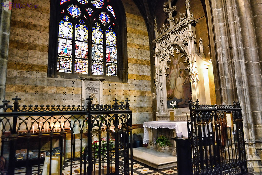 Saint Louis de Gonzague chapel of the Saint Nizier church in Lyon