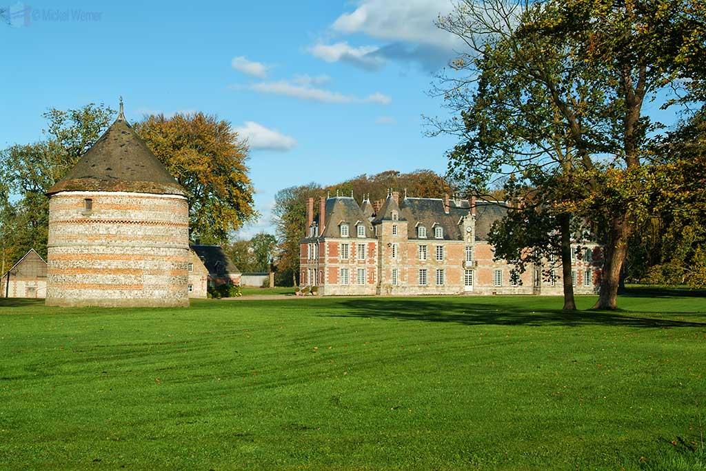 Janville castle at Paluel, Normandy
