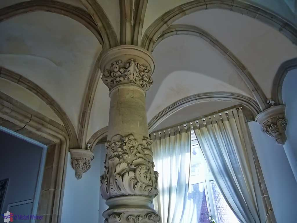Vaulted ceilings of the Chateau des Gadelles of Le Havre
