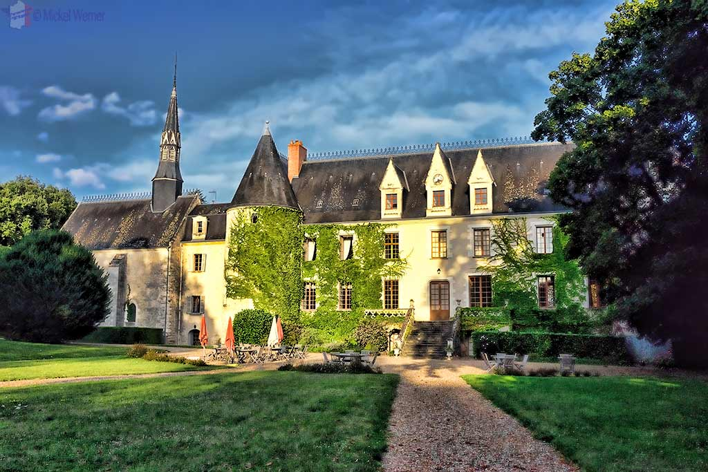 Castle Reignac and its fortified tower at Reignac-sur-Indre in the Loire Valley