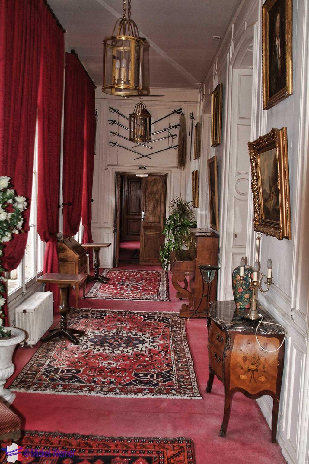 inside the Chateau de Villequier at Villequier