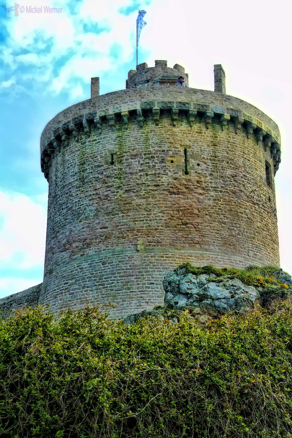 Dungeon Tower/Turret of Fort-la-Latte fortress in Plevenon, Brittany