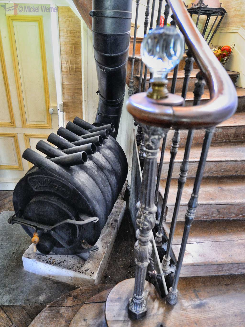 Heating system of the Chateau de Fiquainville at Thiergeville in Normandy