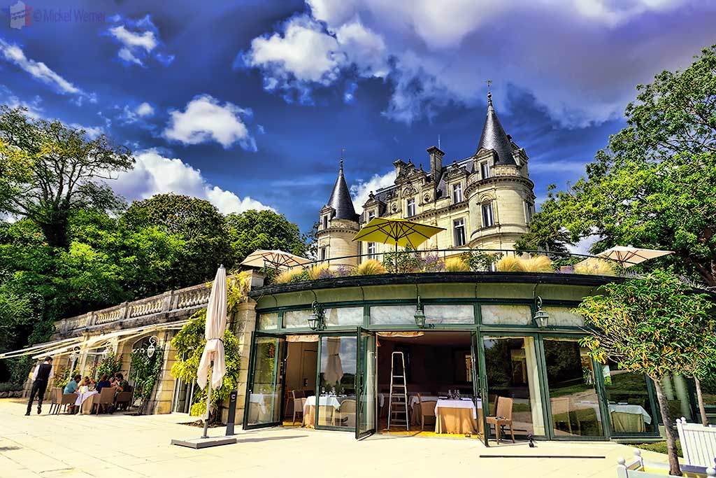 Restaurant of the Domaine de la Tortiniere castle in Veigne (Loire Valley)