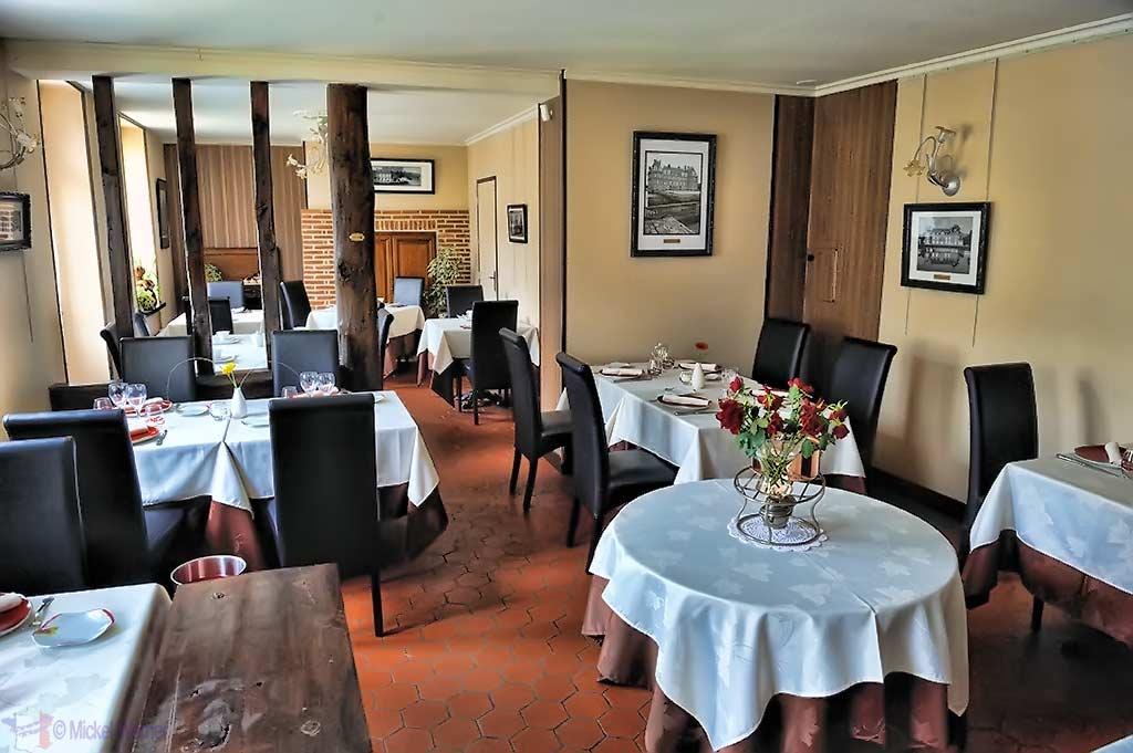 Inside the Le Bec Au Cauchois/Pierre Caillet restaurant in Valmont, Normandy